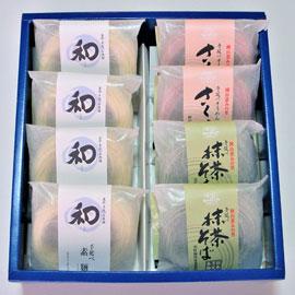 美作「素麺」「さくら素麺」「抹茶そば」の詰め合わせ 画像