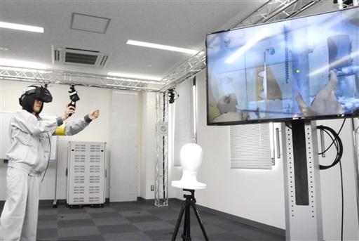 アトムプラザ内に完成したふくいスマートデコミッショニング技術実証拠点。複合現実感システムを駆使し、建屋内での解体作業を体験できる=6月16日、福井県敦賀市