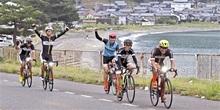 嶺南の自然、銀輪快走 美浜発着ロードバイク催し 全長160キロ、174人が出場