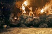 福井県小浜市で伝統神事「お水送り」 春告げる炎、若狭から奈良へ御香水