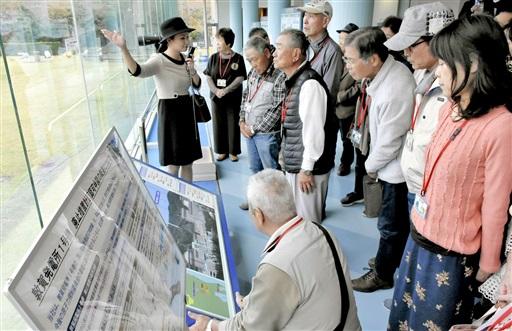 敦賀市と原子力のつながりについて理解を深める奈良県天理市の住民たち=10月27日、福井県敦賀市明神町の敦賀原発