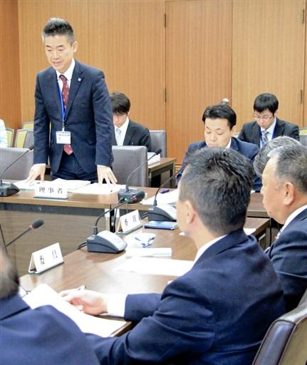国の高速炉開発の工程表などに対し意見が出た敦賀市会の原子力発電所特別委員会=3月12日、福井県敦賀市役所