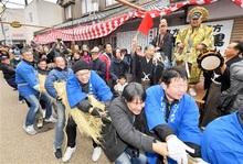 大黒に軍配、今年は豊作 福井県敦賀市で伝統綱引き