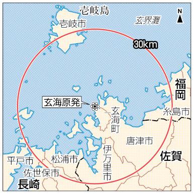 玄海原発と30km圏