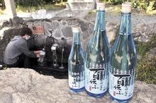 小浜の地下水「雲城水」使った地酒 市内酒店で販売、日本酒「百伝ふ」