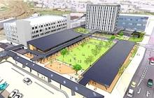 敦賀駅西、進化へ一歩 ホテル棟起工、来年9月開業 交流、にぎわいの拠点に